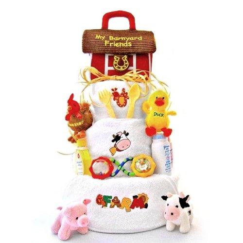 Funny Farm 3 Tier Diaper Cake, 1