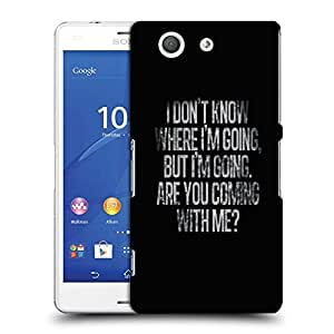 Snoogg Are you coming ? Designer Protective Back Case Cover For SONY XPERIA Z3 COMPACT