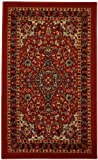 Rubber Back Red Traditional Floral Non-Slip (Non-Skid) Door Mat Rug 18