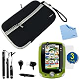 BIRUGEAR Neoprene Zipper Storage Carrying Case plus 3pcs Stylus, Microphone Headset, 3pcs Screen Protectors for LeapFrog Leappad 2 Explorer Kids Learning Tablet with *Microfiber Cleaning Cloth*