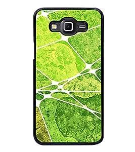 Printvisa Ultra Green Square Pattern 2D Hard Polycarbonate Designer Back Case Cover for Samsu...
