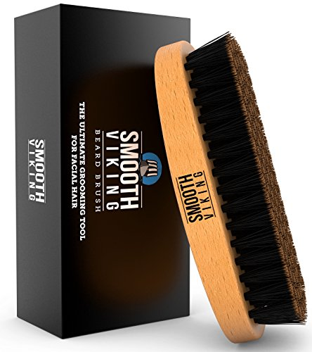 Beard Brush for Men - With Wild Boar Bristles for Easy Grooming - Facial Care Hair Comb for Beards & Mustache Conditioning, Styling & Maintenance - Distributes Products & Natural Wax (Boar Bristle Flat Hair Brush compare prices)