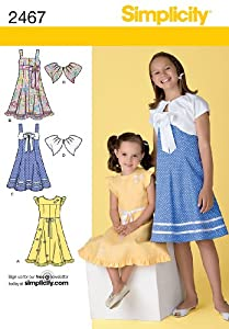 Simplicity Sewing Pattern 2467 Child's Dresses, HH (3-4-5-6)