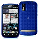 High Gloss Argyle Blue Flexible TPU Cover Skin Phone Case for Motorola Phot ....