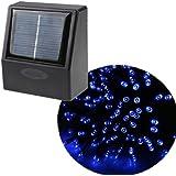 35ft 60 LED Solar String Fairy Blue Lights Outdoor Garden Xmas
