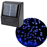 AGPtek® 55ft 100 LED Solar String Fairy Blue Lights Outdoor Garden Xmas