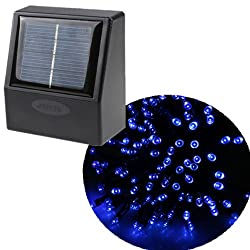 AGPtek&reg; 55ft 100 LED Solar String Fairy Blue Lights Outdoor Garden Xmas
