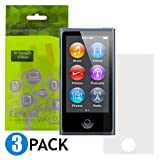 iKross 3-Pack Clear Screen Protectors for Apple iPod Nano 7 7G 7th Generation MP3 Player