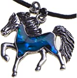 My Little Pony Pendant Silver Horse Necklace Best for Cowgirl Teen Girls Equestrian Birthday Gift Jewelry