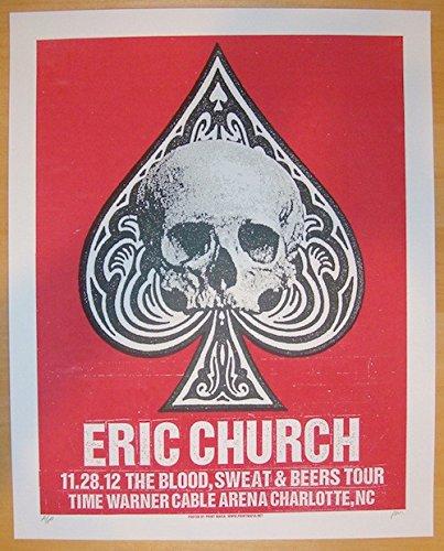 2012-eric-church-charlotte-concert-poster-by-print-mafia