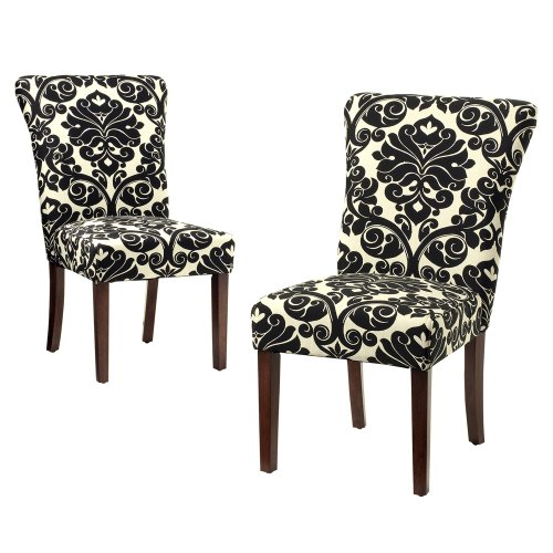 cheap curvature dining chair black and ivory 2 pk review