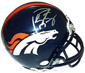 Buy Peyton Manning Autographed Signed Denver Broncos Riddell NFL Mini Helmet by Radtke Sports