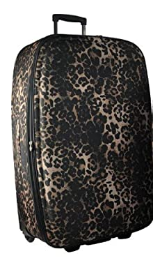 X Large 29'' Super Lightweight Expandable Luggage Suitcase (Brown Leopard)