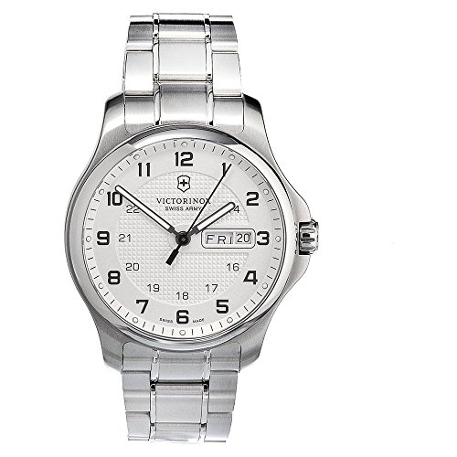 Victorinox Swiss Army Men'S 241551.1 Steel Officers Quartz Analog White Dial Watch