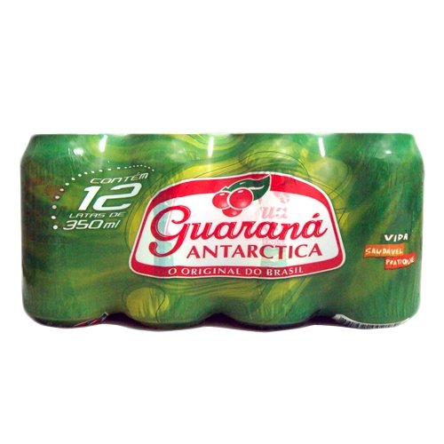 Guaraná Antárctica Soft Drink - 12 Pack - 11.83 FL.Oz | Refrigerante Guaraná Antárctica Lata 350ml - 12x1 - (MULTI PACK)