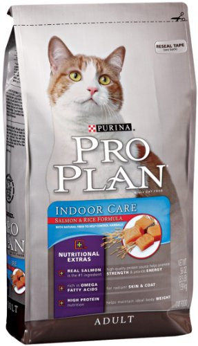 Image of Pro Plan Dry Cat Food, Adult Extra Care Indoor Care Salmon and Rice Formula, 7 Pound Bag