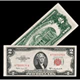 Series 1953 Red Seal $2 Dollar U.S. Note Old Paper Money