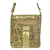 Animal / Leopard Print Across Body Fashion Handbag Goldby Minerva Collection