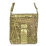 Animal / Leopard Print Across Body Fashion Handbag Goldby Minerva Collection