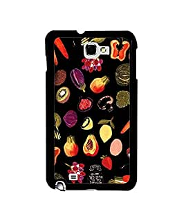 Fuson Premium My Kitchen Metal Printed with Hard Plastic Back Case Cover for Samsung Galaxy Note 1 N7000 i9220