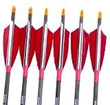 NuoYa001 Good 80cm Long Carbon Arrows Shaft Streamlined 5