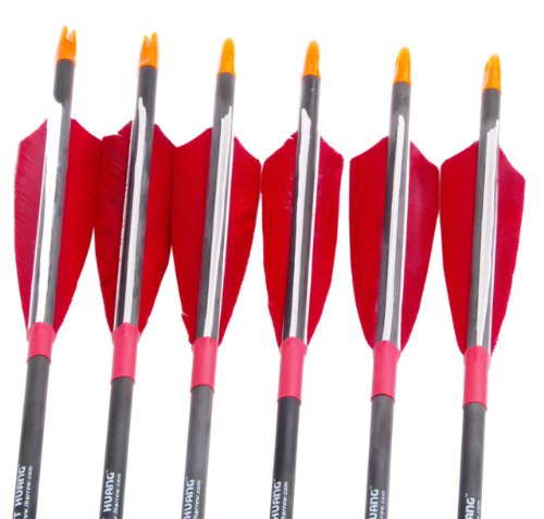 NuoYa001 Good 80cm Long Carbon Arrows Shaft Streamlined