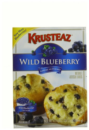 Krusteaz Wild Blueberry Supreme Muffin Mix, 17.1-Ounce Boxes (Pack of  12)