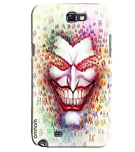 Omnam Man Laughing Printed Designer Back Cover Case For Samsung Galaxy Note 2