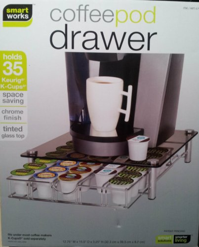 Kitchen Drawer Organizers Deluxe Glass Coffee Drawer For