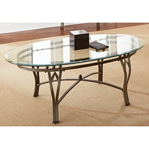 Contemporary Style Maison Tempered Glass-top Oval Coffee Table Is Perfect Accent for Your Living Room