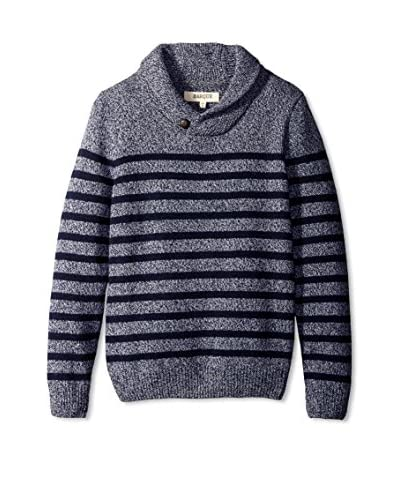 Barque Men's Marled Yarn Striped Pullover