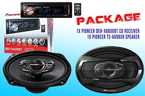 Package ! Pioneer Deh-X6600Bt Cd-Receiver + Pioneer Ts-A6985R Car Speakers