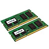 Crucial 8GB (2x 4GB) 204 Pin SO DIMM DDR3 Memory