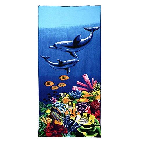 Asciugamani in microfibra asciugamano 70x 150cm-Animale da viaggio per adulti Colorful per palestra