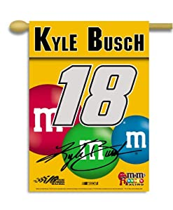 NASCAR Kyle Busch #18 M& M'S 2-Sided 28-by-40-Inch Banner with Pole Sleeve