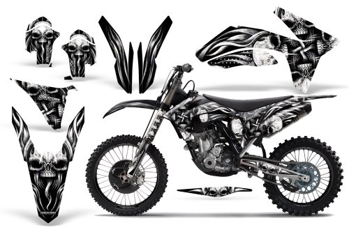 Creatorx Ktm 250Sx 350Sx 450Sx Graphics Kit Decals Skullcified Silver Incl. Number Plate Graphics