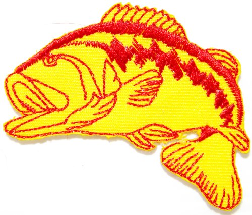 Bass Fishing Fish Lure Hook Logo Jacket T shirt Patch Sew Iron on Embroidered Badge Sign Costum (Vinyl Printer Cutter Combo compare prices)