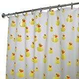InterDesign Novelty EVA Shower Curtain, 72-Inch by 72-Inch, Ducks