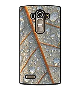 Fuson Premium 2D Back Case Cover Dew drops on leaves With Yellow Background Degined For LG G4::LG G4 H815
