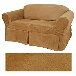 Amazon Suede Camel Furniture Slipcover Sofa 612 Home