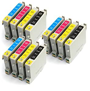 TO445 x3 Full Sets Compatible Printer Ink Cartridges for Epson Stylus C64, C66, C68, C84, C86, CX3500, CX3600, CX3650, CX4600, CX5100, CX6400, CX6600 - T0445