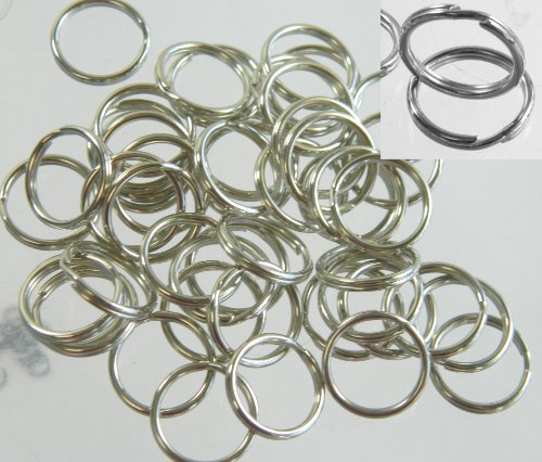 48 Split Ring Fishing Lure, Connector Nickel Plated Spring Steel 9mm Made in the USA (9mm Split Ring compare prices)