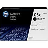HP 05X (CE505XD) Black High Yield Original LaserJet Toner Cartridge, 2 pack