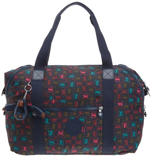 Kipling Art M Medium Travel Tote Bag K01362580 Monkey Mania