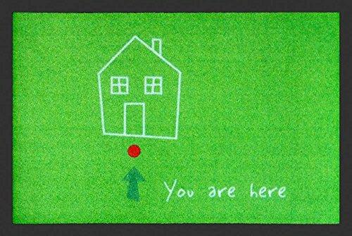 Empire Merchandising GmbH, 658302, Zerbino You are here, 60 x 40 cm, in polipropilene, colore: Verde