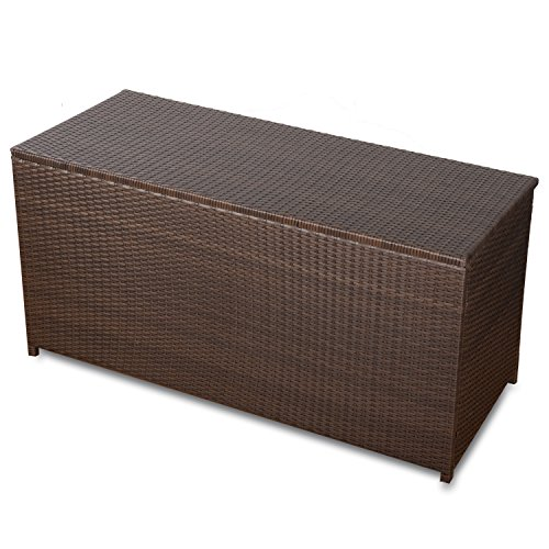 action kissenbox xxl auflagenbox wasserdicht polyrattan gartenm bel auflagenbox rattan braun. Black Bedroom Furniture Sets. Home Design Ideas