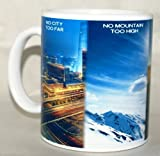 No City Too Far, No Mountain Too High, No Road Too Long, No Challenge Too Great Coffee Mug Collectible Novelty 11 Oz Nice Inspirational and Motivational Souvenir