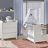 Belivin-Kinderzimmer-Milano-Baby-Bett-umbaubar-zum-Juniorbett-Wickelkommode-wei