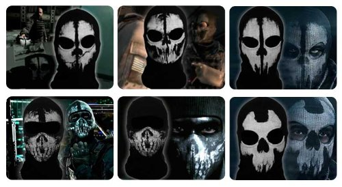 Lifemall Cool Bike Skateboard Hood Costume Face Skull Ghost Mask