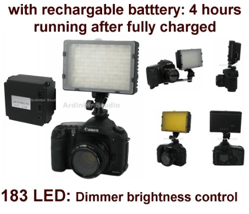 Camera 520lm LED Light with Rechargable Battery (4 hours running) for Leica D-Lux 4, D-Lux 3, S2, V-Lux 1, M9, Digilux 3, D Lux3, Fujifilm Finepix S2 Pro, S3 Pro, S5 Pro